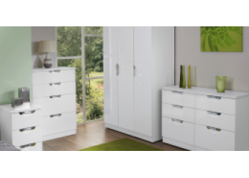 Camden White Bedroom Furniture Set Fully Assembled