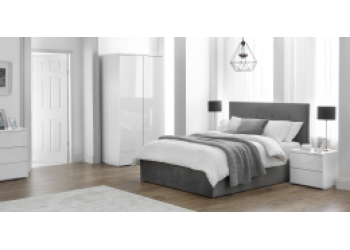 Monaco White Bedroom Furniture Set