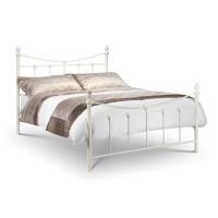 Julian Bowen Rebecca 150cm (5ft) King Size Bed REB006 - Stone White
