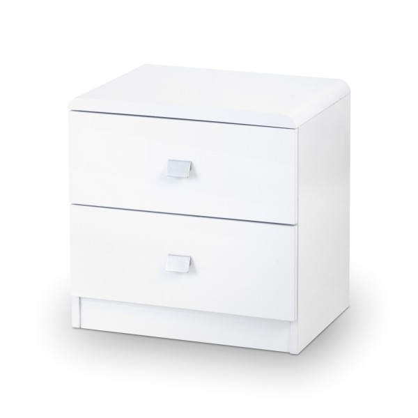 Julian Bowen Domino 2 Drawer Bedside Chest DOM201