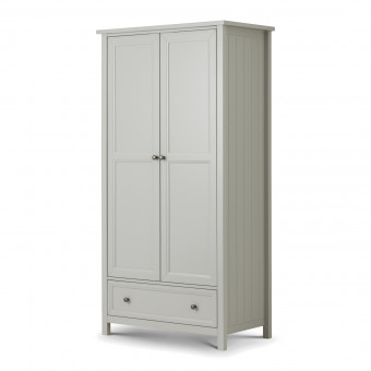 Double Wardrobe - Julian Bowen Maine Grey 2 Door Wardrobe MAI006