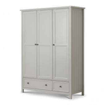 Triple Wardrobe - Julian Bowen Maine Grey 3 Door Wardrobe MAI007