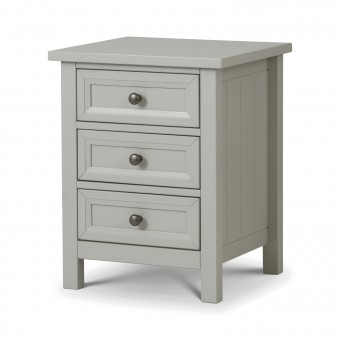Julian Bowen Maine Grey 3 Drawer Bedside Chest MAI001