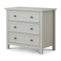 Julian Bowen Maine Grey 3 Drawer Chest of Drawers MAI002
