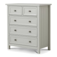 Chest of Drawers - Maine Grey 5 Drawer Bedroom Chest MAI003