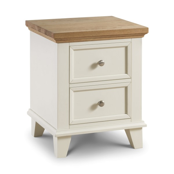 Julian Bowen Portland 2 Drawer Bedside Chest POR001