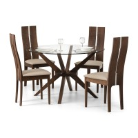 Julian Bowen Chelsea Dining Table 4 Cayman Dining Chairs