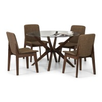 Julian Bowen Chelsea Dining Table 4 Kensington Dining Chairs