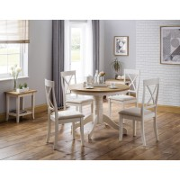 Julian Bowen Davenport Round Dining Table with 4 Chairs DAV010