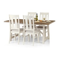 Julian Bowen Pembroke Dining Table with 4 Chairs PEM001 PEM002