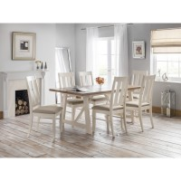 Julian Bowen Pembroke Dining Table with 6 Chairs PEM001 PEM002