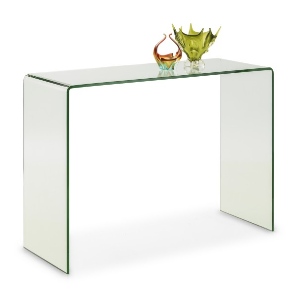 Julian Bowen Amalfi Bent Glass Console Table AMA003