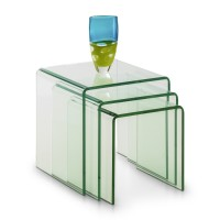 Julian Bowen Amalfi Bent Glass Nest of Tables AMA001
