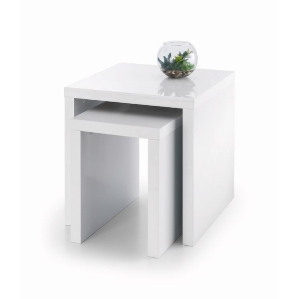 Julian Bowen Metro Nest of Tables MET002 in White