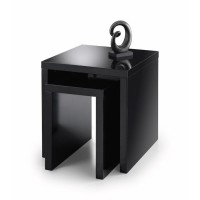 Julian Bowen Metro Nest of Tables MET004 in Black