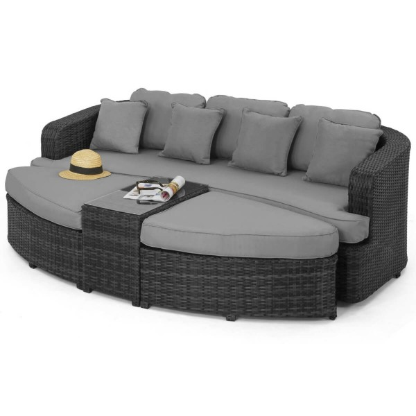 Maze Rattan Furniture Toronto Daybed FLA-106055 - Grey