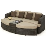 Maze Rattan Furniture Toronto Daybed FLA-106050 - Brown