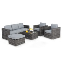 Maze Rattan Furniture Georgia 3 Seat Grey Sofa Set FLA-102525