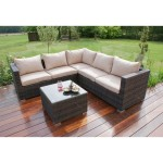 Maze Rattan Porto Corner Sofa Set - Brown FLA-103050