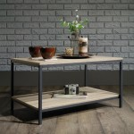 Coffee Tables - Industrial Style Oak Coffee Table 5420275