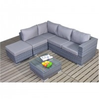 Port Royal Platinum Small Corner Sofa Set WGF-501 - Left Hand