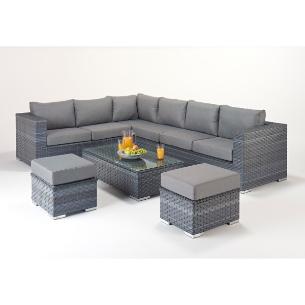 Alexandria Rattan Corner Sofa Reviews: Platinum Large Corner Sofa Set WGF-502 Left Hand