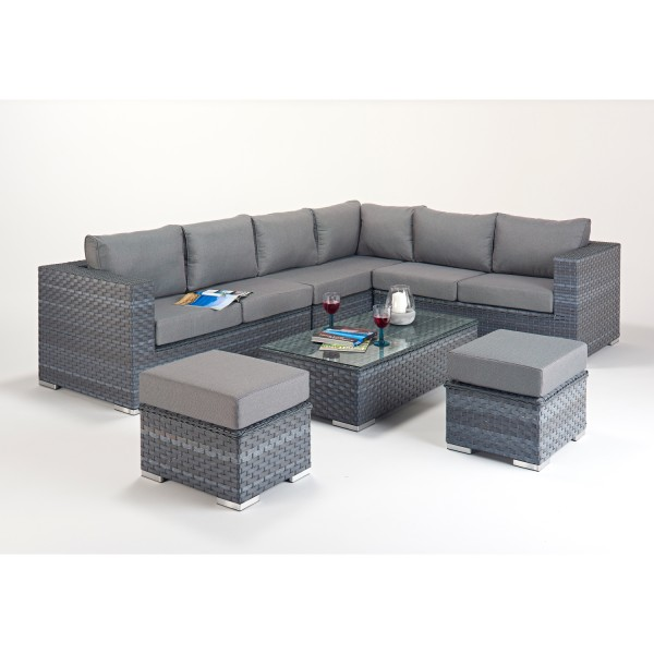 Rattan Set - Platinum Large Corner Sofa Set WGF-510 - Right Hand