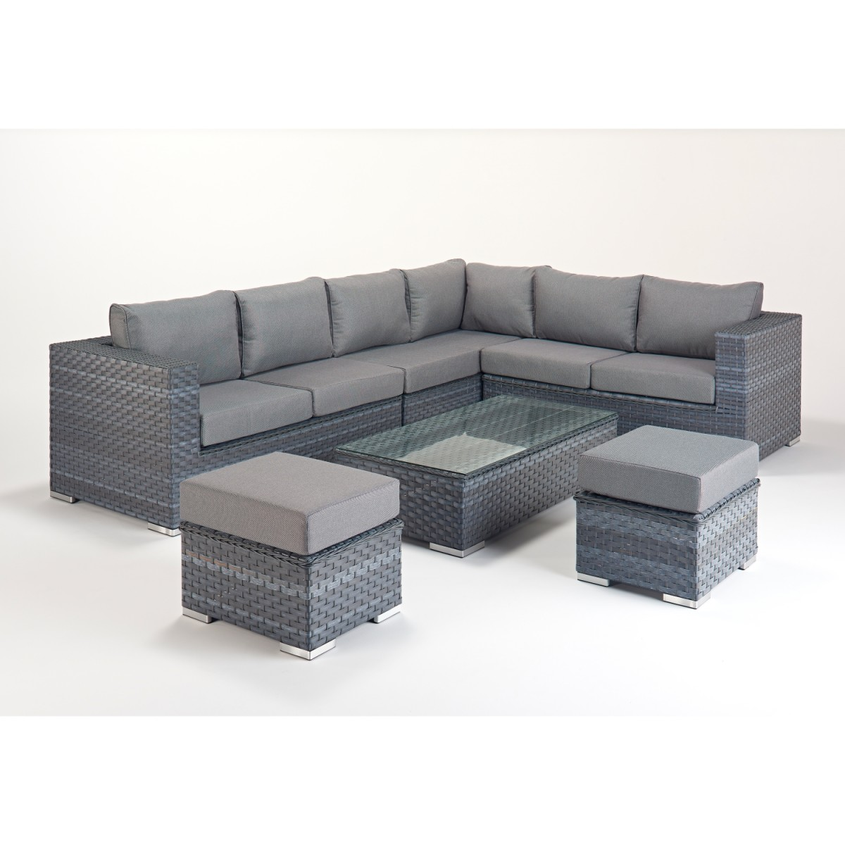 Alexandria Rattan Corner Sofa Reviews: Platinum Large Corner Sofa Set WGF-510 Right Hand