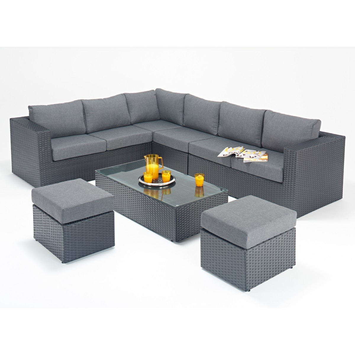 Rattan Set Prestige Large Corner Sofa Set Wgf 302 Left Hand