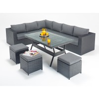Rattan Set - Prestige Corner Sofa Dining Set WGF-304 - Left Hand