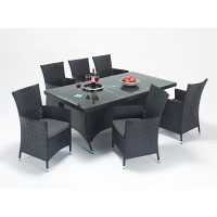 Rattan Set - Prestige 6 Seat Rectangular Dining Set WGF-312