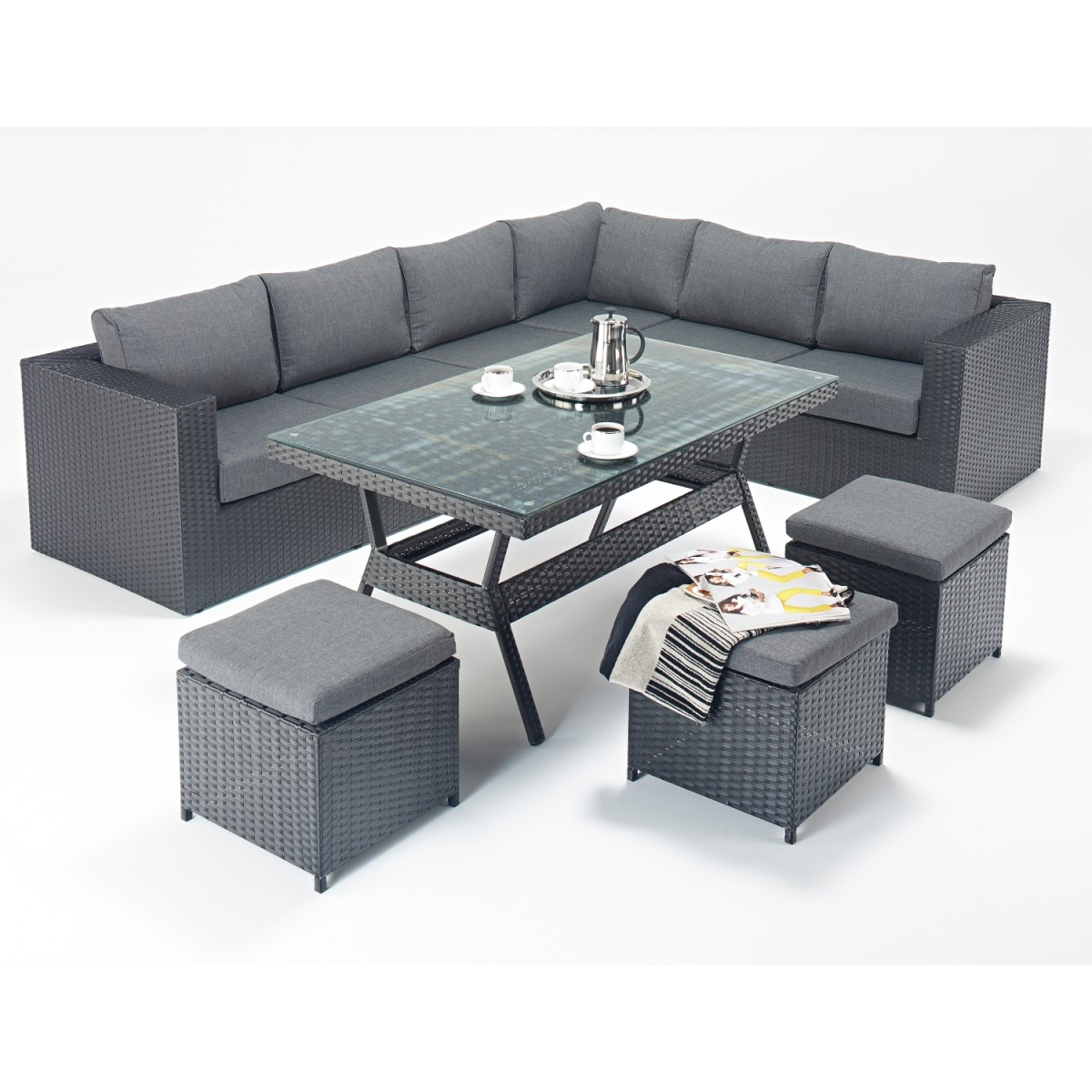rattan set prestige corner sofa dining set wgf 313 right. Black Bedroom Furniture Sets. Home Design Ideas