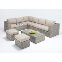 Rattan Set - Rustic Large Corner Sofa WGF-402 - Left Hand