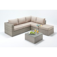 Rattan Set - Rustic Small Corner Sofa Set WGF-409 - Right Hand