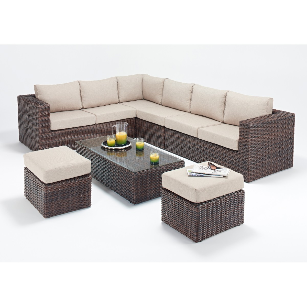 Rattan Sets Windsor Large Corner Sofa Set Wgf 2702 Left Hand