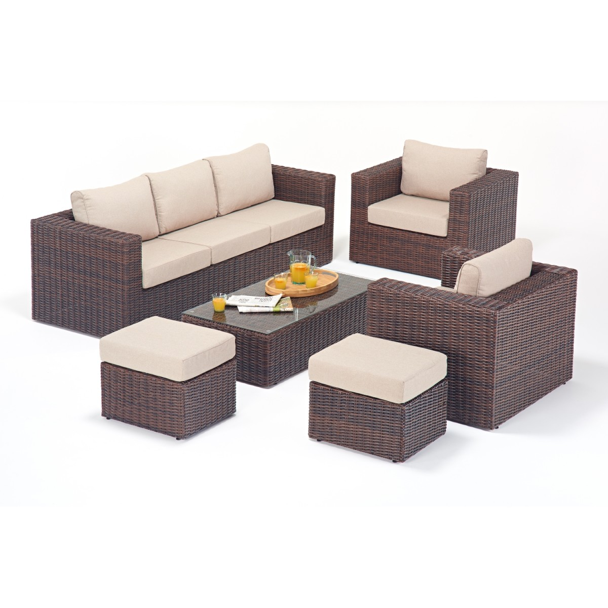 rattan sets windsor large sofa set wgf 2706. Black Bedroom Furniture Sets. Home Design Ideas