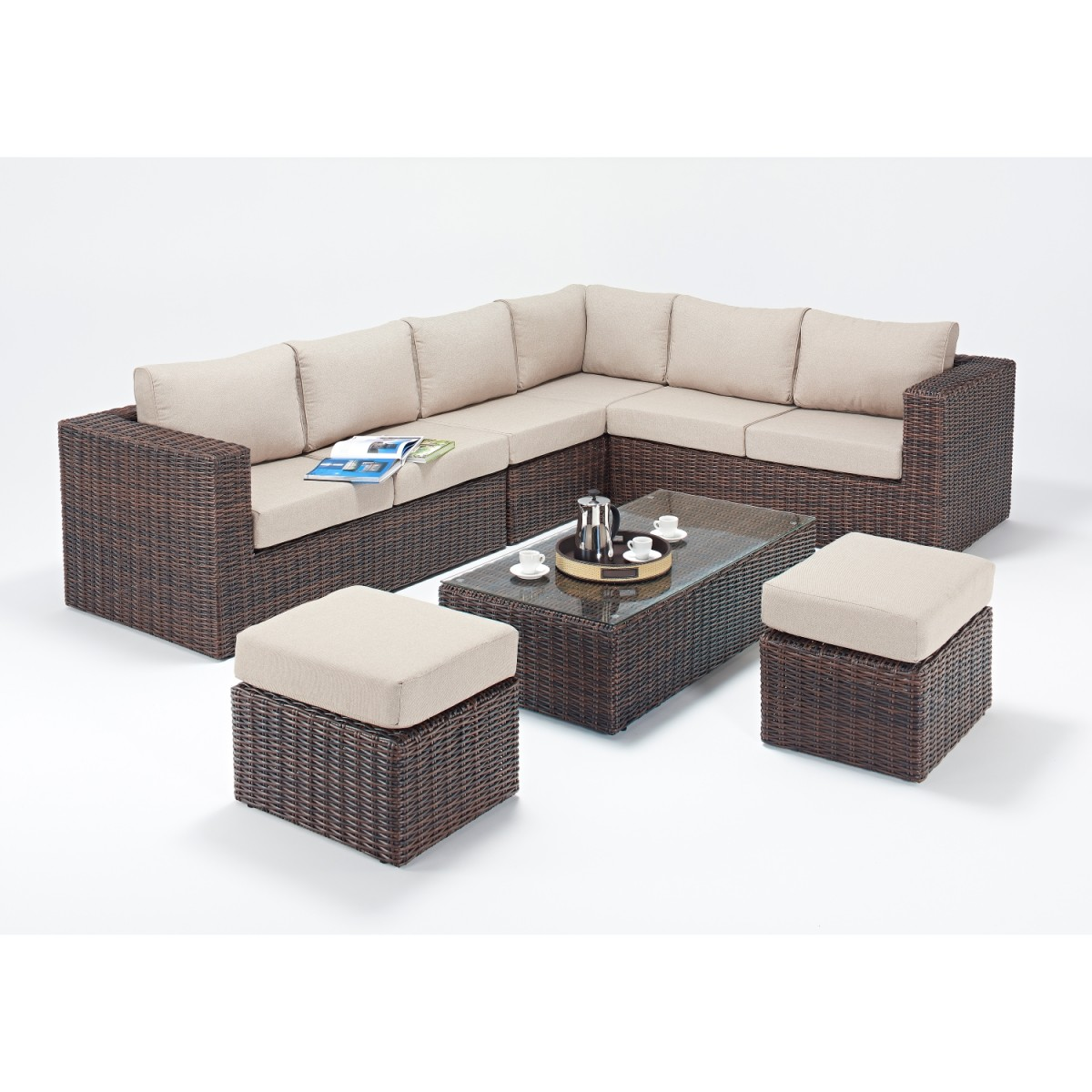Rattan Sets Windsor Large Corner Sofa Set Wgf 2710 Right