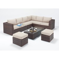 Rattan Set - Windsor Large Corner Sofa Set WGF-2710 - Right Hand