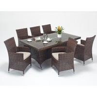 Rattan Set - Windsor 6 Seat Rectangular Dining Set WGF-2712