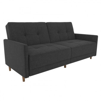 Double Sofa Bed Grey Linen Andora Two Seater Sofa Bed 2146429UK by Dorel