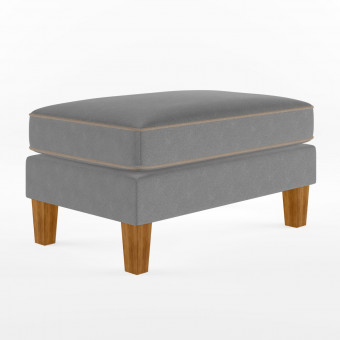 Ottoman Grey Bowen Fabric Footstool DA036OTUK by Dorel