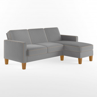 Corner Sofa Grey Bowen L Shaped Sofa DA036SECUK by Dorel