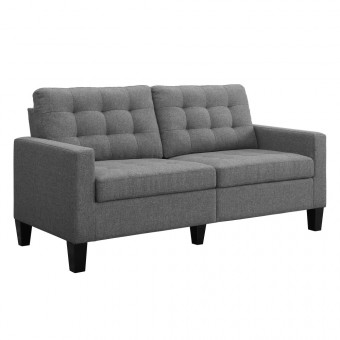 Grey Sofa Bowie Large 2 Seater Sofa DA010-SFUK by Dorel