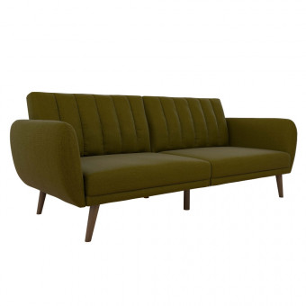 Double Sofa Bed Green Brittany Two Seater Futon Sofa Bed 2115329NUK by Dorel