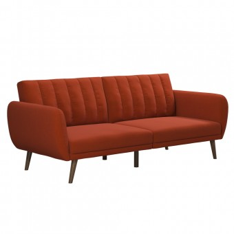 Double Sofa Bed Orange Brittany Two Seater Futon Sofa Bed 2115529NUK by Dorel