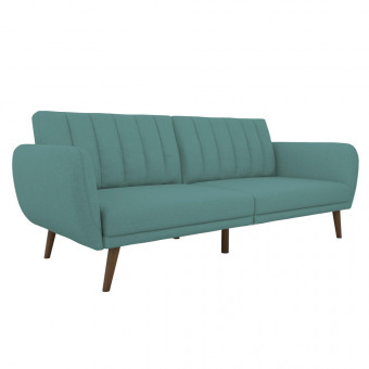 Double Sofa Bed Light Blue Brittany Two Seater Futon Sofa Bed 2115829NUK by Dorel