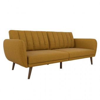 Double Sofa Bed Mustard Brittany Two Seater Futon Sofa Bed 2115929NUK by Dorel