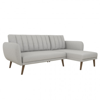 Triple Sofa Bed Light Grey Brittany Futon Corner Sofa Bed 2275429NUK by Dorel