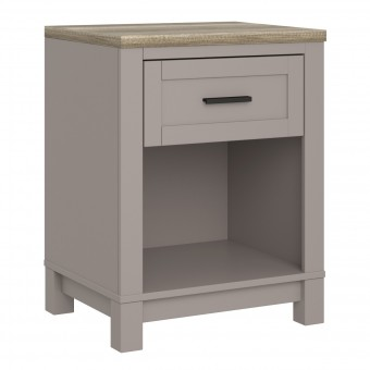 Bedside Cabinet Grey Carver Bedroom Night Stand 5989096COMUK by Dorel