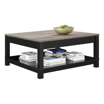 Coffee Table Black and Oak Carver 5047196PCOM by Dorel
